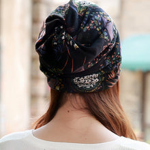 Women's Spring Autumn  New Fashion Polyester Adult Casual Floral Cap Scarf Beanies