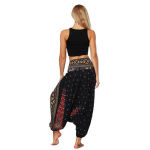 Women's High Waist Printed Loose Thin Lantern Style Outdoor Thailand Bohemia Fitness Sport Yoga Pants Trousers