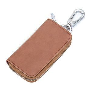 Unisex Genuine Cow Leather Business Key Buckle Car Key Packet Key Organizer Leather Smart Key Holder