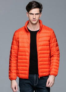 Men's New Autumn Winter Duck Down Jacket Ultra Light Thin Plus Size Spring Jackets Stand Collar Outerwear Coat