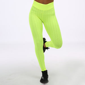Women's Solid High Waist Workout Sexy Push Up Breathable Fitness Stretch Classic Trousers Leggings