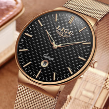 Men's New Top Luxury Brand All Steel Slim Casual Fashion Waterproof Quartz Black Watch Relogio masculino