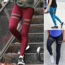Women's New Fashion Sexy Fitness Mesh Workout Skinny Leggings