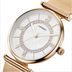 Women's Top Brand Fashion Gold Luxury Diamond Watches relogio feminino reloj mujer