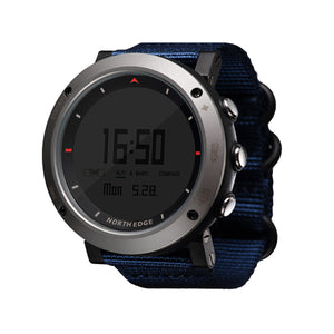 Men's Sports Hours Running Swimming Altimeter Barometer Compass Thermometer Weather Digital Watch