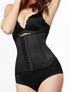 Women's Hot Body Shaper Waist Trainer Belt Steel Boned Corset Postpartum Belly Slimming Belt Modeling Strap Shapewear