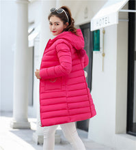 Women's Winter Down Slim Large size Hooded Thick Warm Cotton Jacket