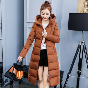 Women's Winter Hooded Collar Thicken Warm Long Plus Size 4XL Jacket Outerwear