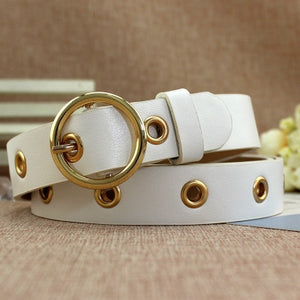 Women's Luxury Top Quality Straps Wide Genuine Leather Belt