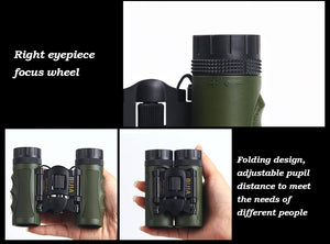 Porfessional 12x25 Mini Outdoor Folding Telescope BAK4 FMC  Hunting Optics Binoculars