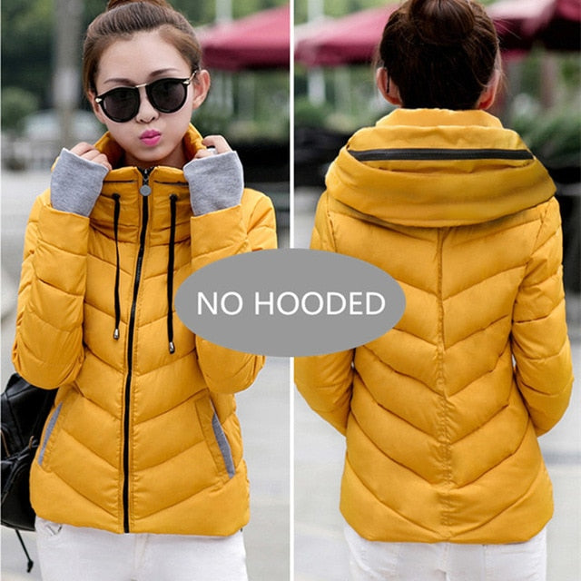 Women's Winter Outerwear Short  Padded Parka Jackets and Coats