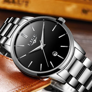 Men's New Top Luxury Brand Waterproof Sports Stainless Steel Business Quartz Watch Clock Relogio Masculino
