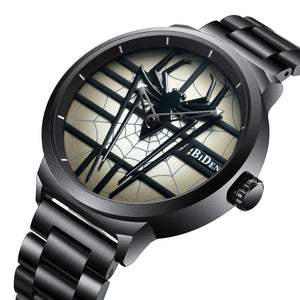 Men's Waterproof Stainless Steel Spider Network Fashion Citizen movement Quartz Wristwatch