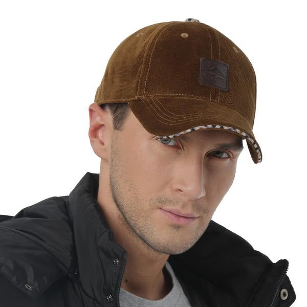 Men's New Winter Baseball Cap with Ear Flaps Cotton Winter Keep Warm Dad Hats Bone Snapback Caps