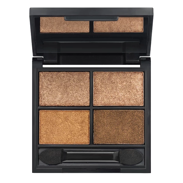 Load image into Gallery viewer, Certified Organic Quad Metallic Eyeshadow Palettes