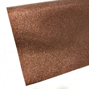 Chocolate brown Fine glitter fabric