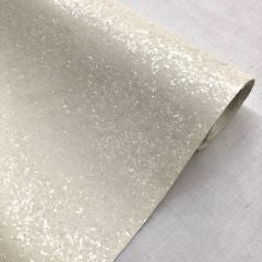 White chunky glitter fabric