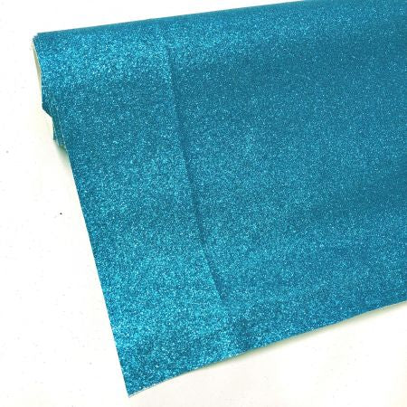 Kingfisher blue Fine glitter fabric
