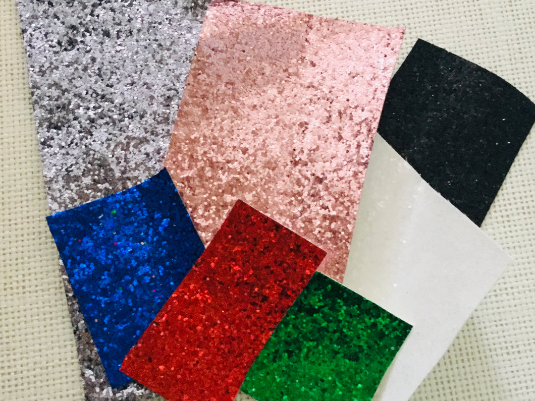 Glitter fabric off cut bag