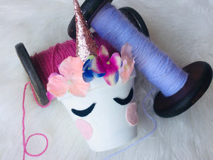 Unicorn storage pot