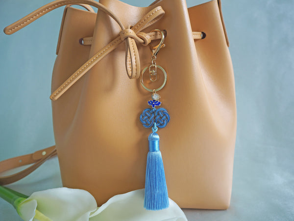 1c82100311 Blue Chinese Knot Bag Charm