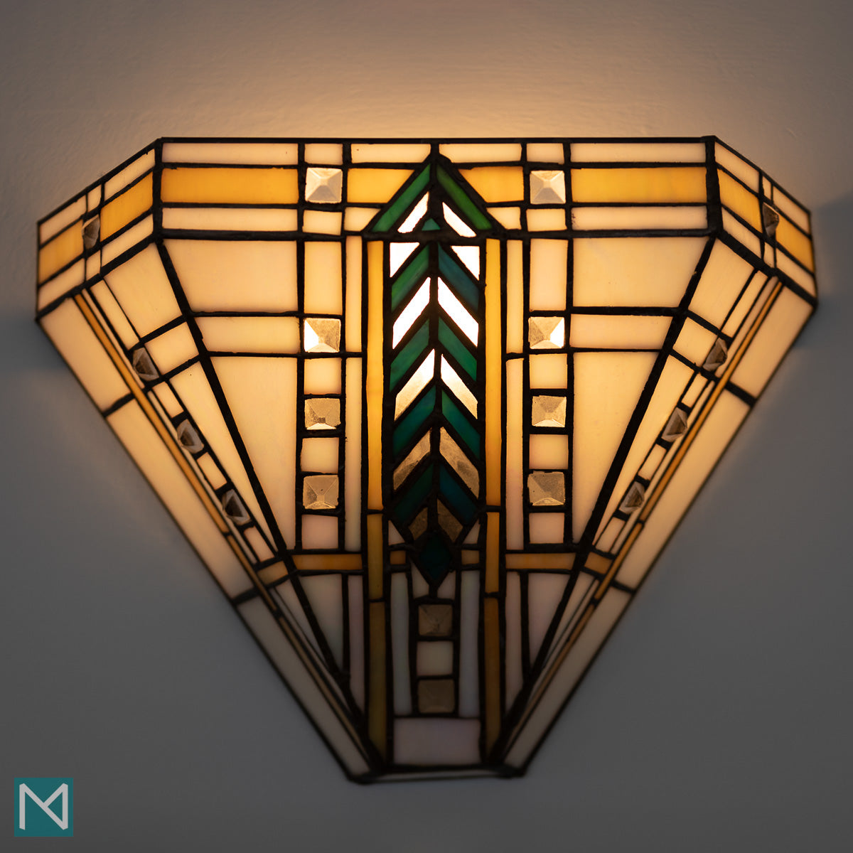 Art Deco light fitting at the Burgh Island Hotel