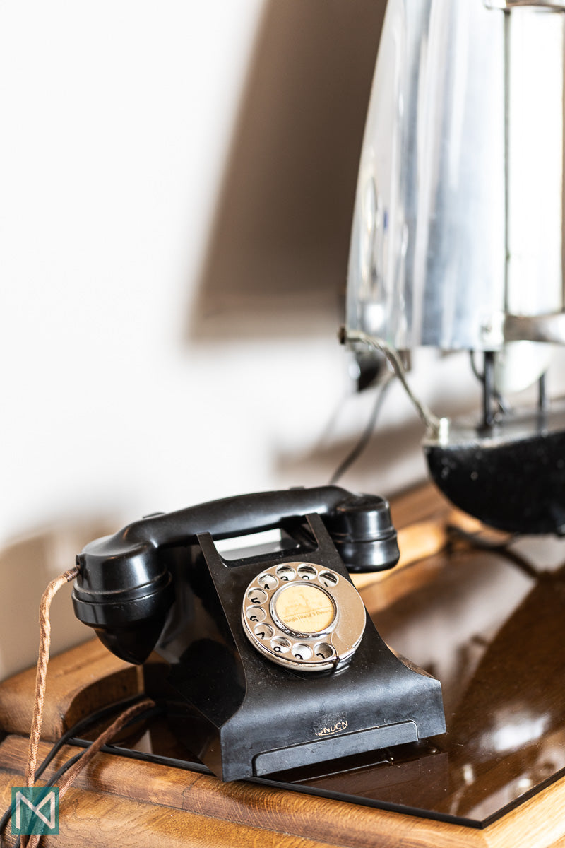 Bakelite telephone in the Bentley Suite at the Burgh Island Hotel