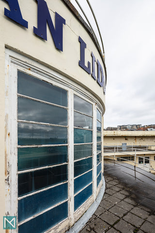 Detail of the exterior of the rotunda at Saltdean Lido