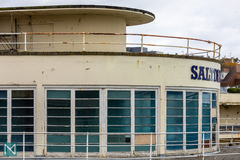 Exterior view of the rotunda at Saltdean Lido