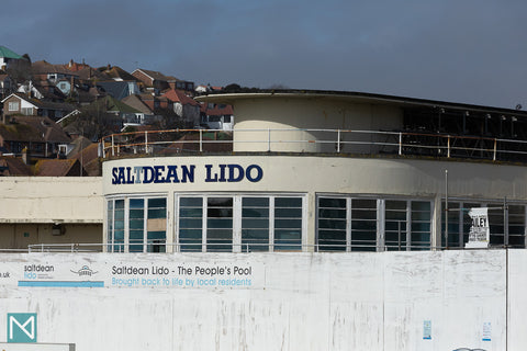 The exterior of the rotunda at Saltdean Lido