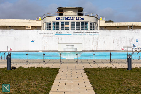View of Saltdean Lido from the south