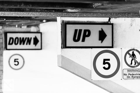 Welbeck Street Car Park Contrasting Signage © Nick Miners Photography