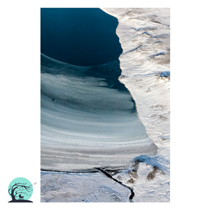 Iceland Aerial Photography Print Freeze Nick Miners