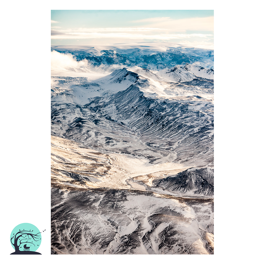 Iceland Aerial Landscape Print Wilderness by Photographer Nick Miners