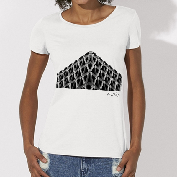 Women's Brutalist Modern Architecture T-Shirt Tricorn by Nick Miners