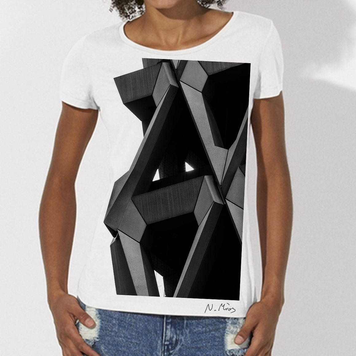 Women's Brutalist Modern Architecture T-Shirt Welbeck by Nick Miners