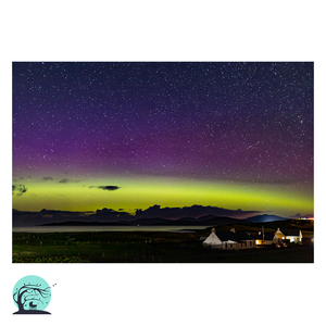 Northern lights print Hebridean aurora Nick Miners