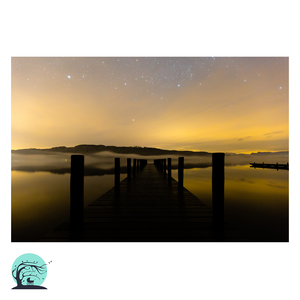 Windermere at night fine art print Nick Miners