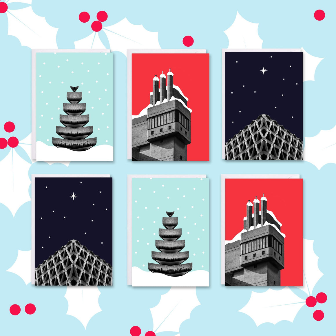 Brutalist Architecture Christmas Cards