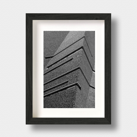 Modern Architecture Print Creased by London Photographer Nick Miners