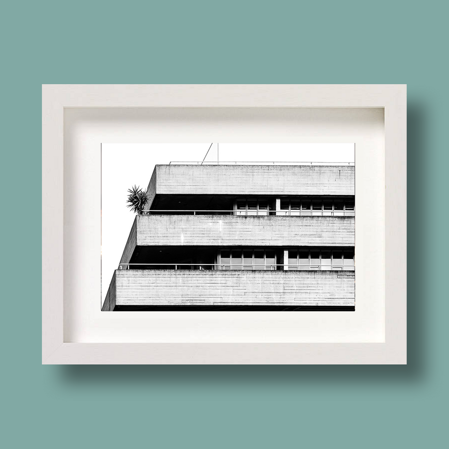 London Brutalist Architecture Print National Theatre