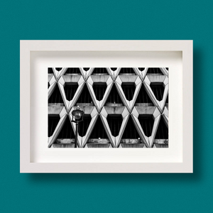 Brutalist Architecture Print London Welbeck Street Car Park