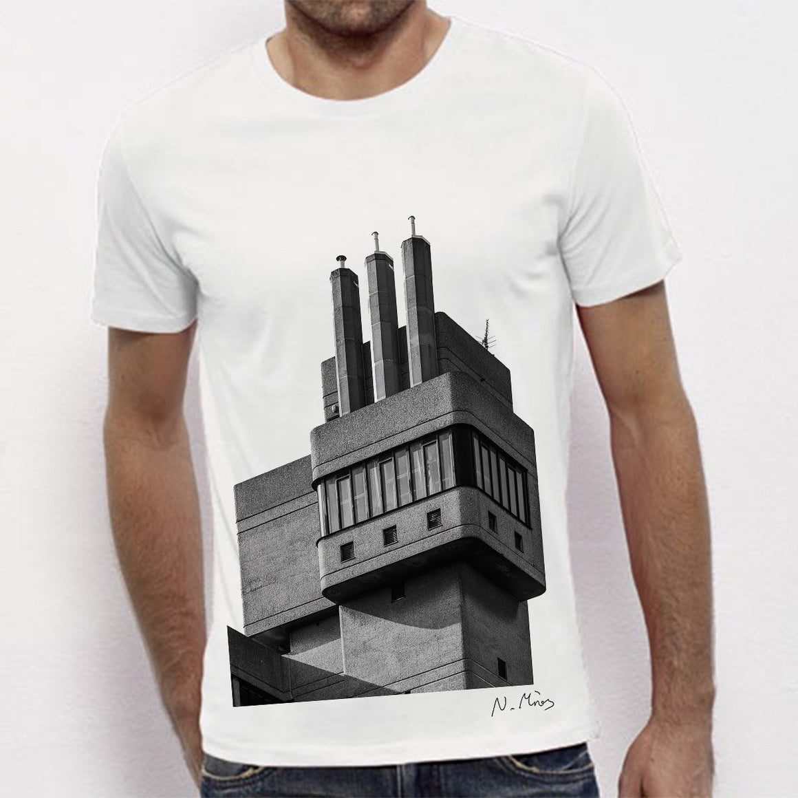 Brutalist Architecture T-Shirt Glenkerry by Nick Miners