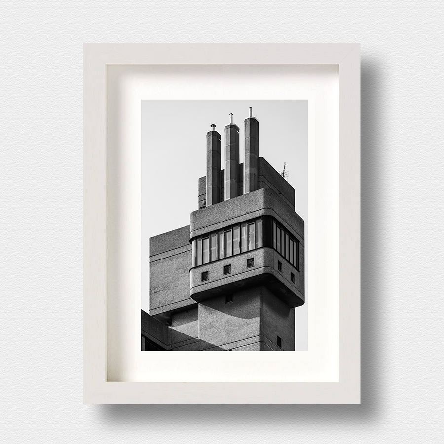 Brutalist Architecture Print Glenkerry London by Nick Miners