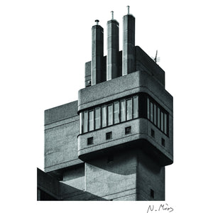 Glenkerry House Brutalist Architecture T-Shirt
