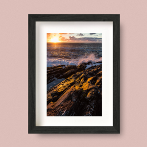 Hebridean Sunset Landscape Print by Nick Miners