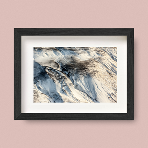 Iceland Aerial Landscape Print Ash Fall Nick Miners