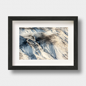 Iceland Aerial Landscape Print Ash Fall by Photographer Nick Miners