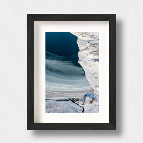 Iceland Aerial Landscape Print Freeze by Photographer Nick Miners