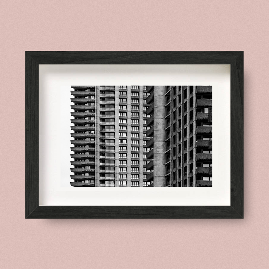 Brutalist London Architecture Print Barbican Nick Miners